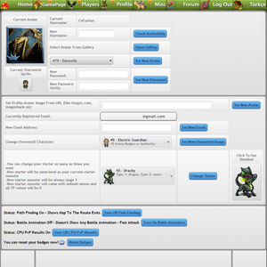 Control Panel - Change Avatar - Update Profile