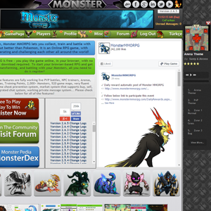 Music Player of Monster MMORPG Game