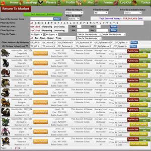 Putting Monsters Sale Or Trade At The Bazaar Page