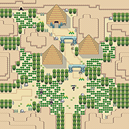 Ancient Ruins Game Map for Pokemon Online Players Route Order: 164