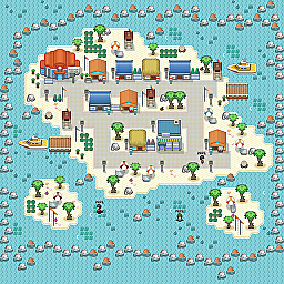 Angler Town Game Map for Pokemon Online Players Route Order: 104