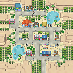 Anteater Town Game Map for Pokemon Online Players Route Order: 172