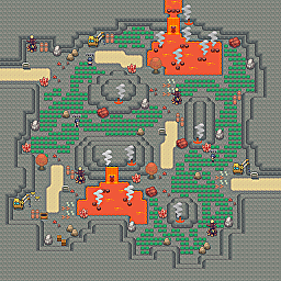 Burning Route Game Map for Pokemon Online Players Route Order: 218