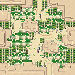 Cactus Sands Game Map for Pokemon Online Players Route Order: 168