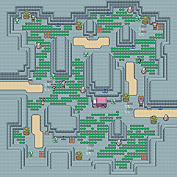 Carbide Path Game Map for Pokemon Online Players Route Order: 347