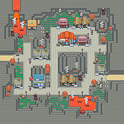 Charred Stone Town Game Map for Pokemon Online Players Route Order: 233