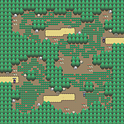 Defenders Path Game Map for Pokemon Online Players Route Order: 324