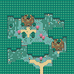 Defiled Ruins Game Map for Pokemon Online Players Route Order: 33