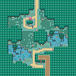 Falcon Ponds Game Map for Pokemon Online Players Route Order: 36