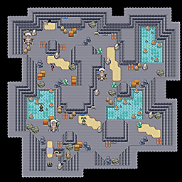 Flooded Cave F1 Game Map for Pokemon Online Players Route Order: 120