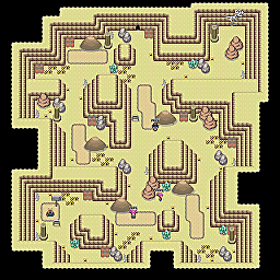 Fossil Cave F1 Game Map for Pokemon Online Players Route Order: 177