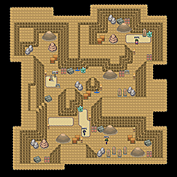 Glow Cave F2 Game Map for Pokemon Online Players Route Order: 282