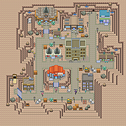 Glyptodon City Game Map for Pokemon Online Players Route Order: 213