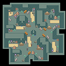 Iron Mines F2 Game Map for Pokemon Online Players Route Order: 346