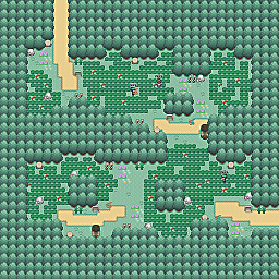 Killer Bee Path Game Map for Pokemon Online Players Route Order: 96