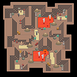 Magma Chamber F3 Game Map for Pokemon Online Players Route Order: 442