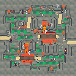 Magma Walks Game Map for Pokemon Online Players Route Order: 237