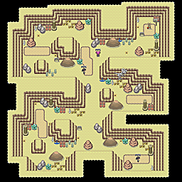 Marble Cave F3 Game Map for Pokemon Online Players Route Order: 167