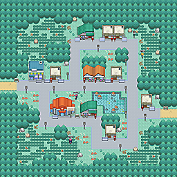 Oak Town Game Map for Pokemon Online Players Route Order: 507