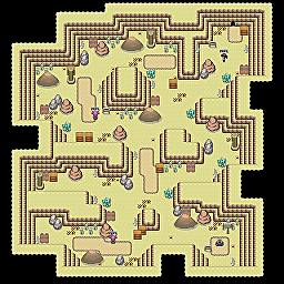 Quicksand Cave F1 Game Map for Pokemon Online Players Route Order: 161