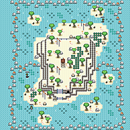 Resort Isle Game Map for Pokemon Online Players Route Order: 119