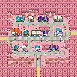 Scorpio Town Game Map for Pokemon Online Players Route Order: 361