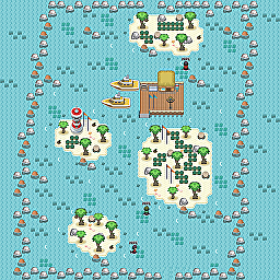 Seashell Islands Game Map for Pokemon Online Players Route Order: 112