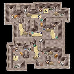 Training Cave F2 Game Map for Pokemon Online Players Route Order: 309