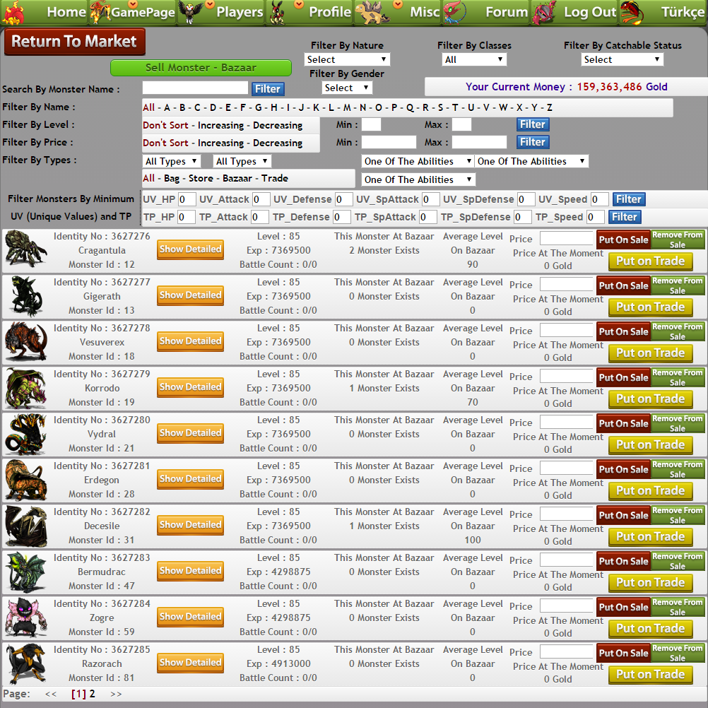mmo trading games